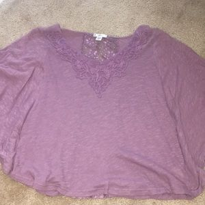 Purple Lacey Circle Top